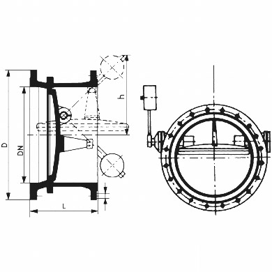 Butterfly Control Valve Diagram