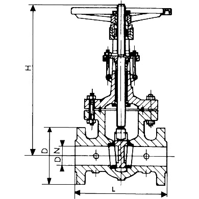 Gate Valve Line Diagram