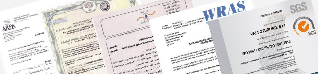 valvotubi certificazioni
