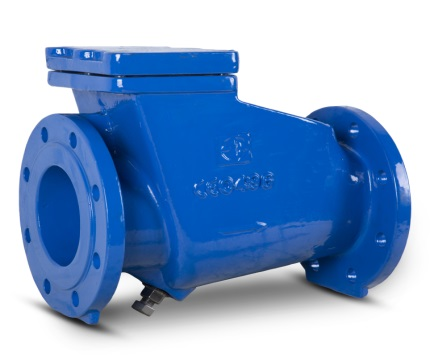 128 swing check valve with rubber covered disc