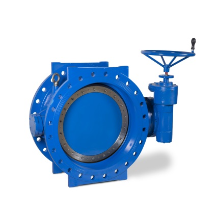 Valvotubi double flanged double eccentric butterfly valve